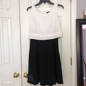 Black and White Tank Top Dress
